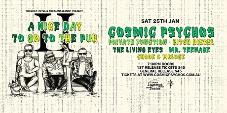 A Nice Day To Go To The Pub 2020 - feat. Cosmic Psychos | Torquay Hotel 18+ tickets