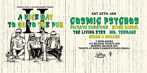 A Nice Day To Go To The Pub 2020 - feat. Cosmic Psychos | Torquay Hotel 18+