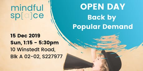 Mindful Space Open Day 15 Dec tickets