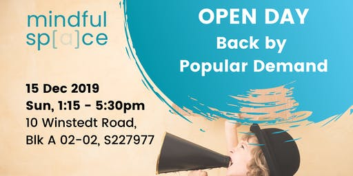 Mindful Space Open Day 15 Dec