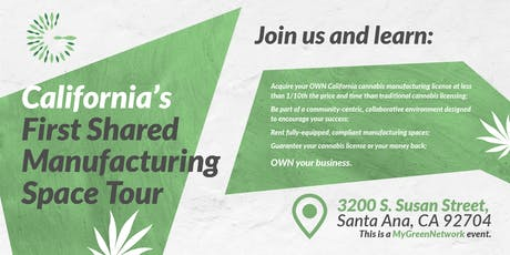 Cannabis Shared-Manufacturing Spaces Holiday Charity Mixer tickets