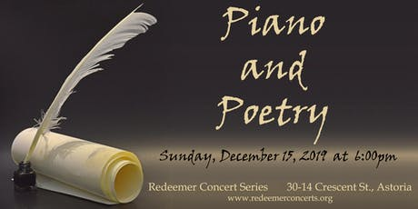 Piano and Poetry tickets