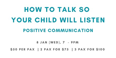 How to talk so your child listen tickets