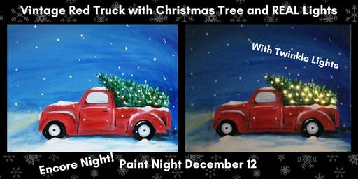 Snowy Red Truck Paint Night (Encore Class!)