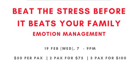 Beat The Stress Before it Beats Your Family tickets
