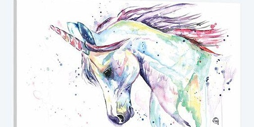 UNICORN WATERCOLOUR IN GRANDE PRAIRIE
