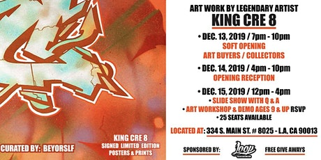 "ShadowBox Gallery Presents: ""A MAN AND HIS CREATIONS"" Solo exhibit & Pop-up tickets"