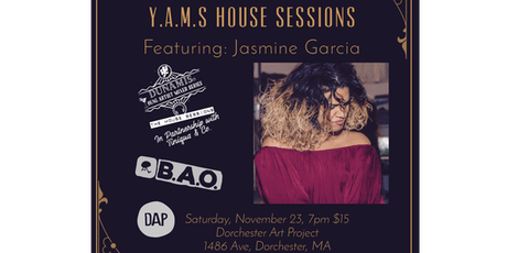 Y.A.M.S House Sessions: Jasmine Garcia tickets