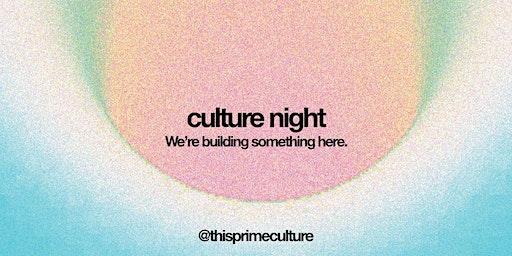 PRIME | Culture Night