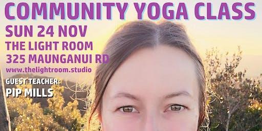Community Yoga Class - with Pip Mills - Sun24Nov 9am - the last one!!!