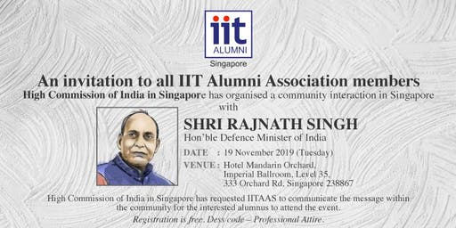 Interaction with SHRI RAJNATH SINGH, Hon'ble Defence Minister of India