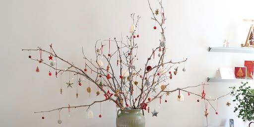 Decorating for Christmas at Villa Alba.