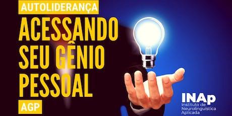 AUTOLIDERANÇA (AGP) - ACESSANDO SEU GÊNIO PESSOAL (complemento MASTER) ingressos