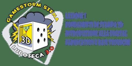 Ludoteca 3.0: Lez 1 Introduzione alla digital fabrication e basi teoriche biglietti