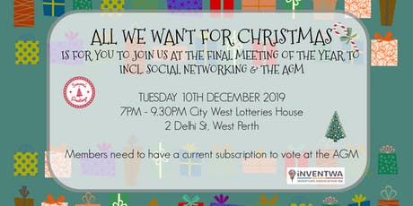 Invent WA - Christmas Social meeting (incorporating AGM) tickets