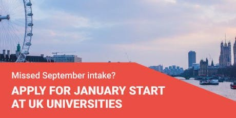 Study in the UK Starting January 2020 + Scholarship tickets