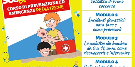 SOS Bimbo Sicuro: Modulo 4 - Corso di Prevenzione ed Emergenze Pediatriche biglietti