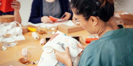 A-Z Embroidery Kit Workshop with Stitch School tickets