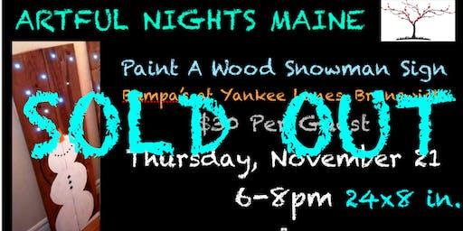 Paint a Wood Snowman Sign at Bumpas at Yankee Lanes