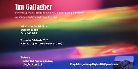 Jim Gallagher - Singer Songwriter - 5.3.2020 - Widcombe Social Club tickets