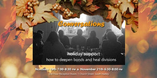 Conversations Holiday Support: Sessions 1 and 2