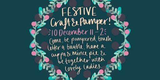 Winter pamper & festive craft time