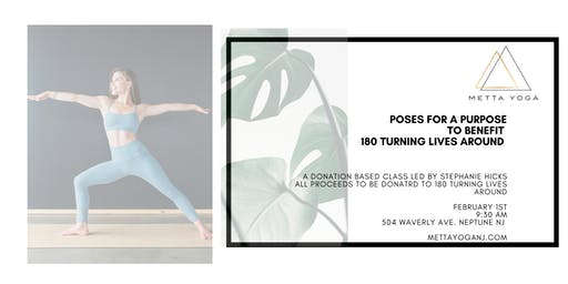 Poses For A Purpose: Donation Yoga for 180 Turning Lives Around