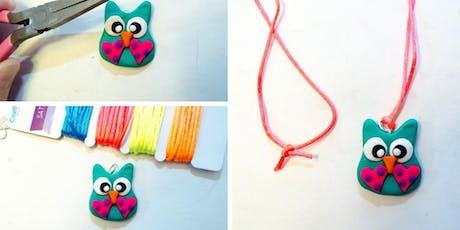 Make a Polymer Clay Necklace (7-10 años) entradas