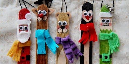 Lolly Stick Xmas Crafts (4-7 años)