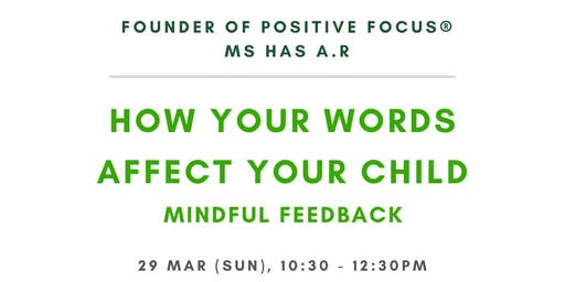 How your words affect your child
