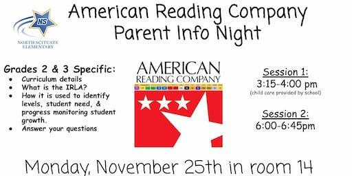 American Reading Company Parent Info Night