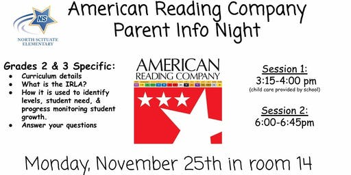 American Reading Company Parent Info Night