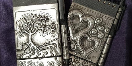 Embossed Pewter Notebook  tickets