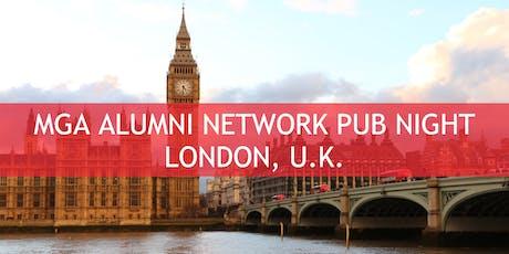 MGA Alumni Network Pub Night - London, U.K. tickets
