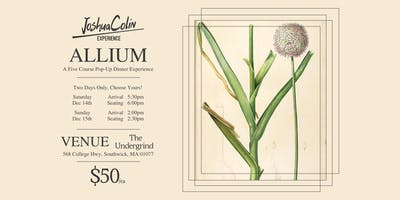 JoshuaColin Experience - Allium - [SATURDAY NIGHT SEATING]