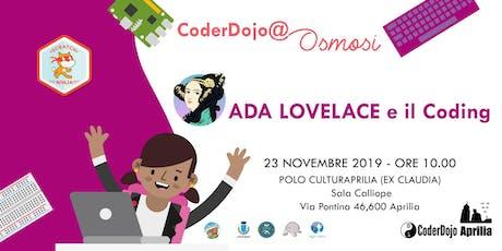 CoderDojo Aprilia - 23 Novembre 2019 - Ada Lovelace e il Coding biglietti
