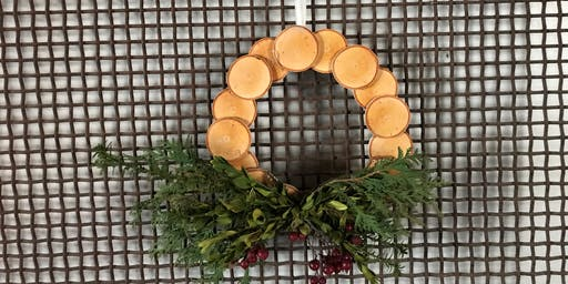 Live Edge Holiday wreath