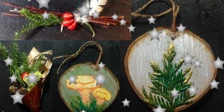 Atelier d'artisanat: Fabrication de décorations de Noël billets