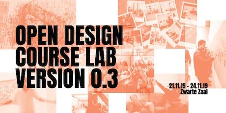 Open Design Course Lab version 0.3 tickets