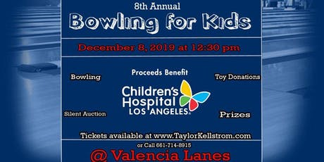 "8th Annual "" Bowling for Kids"" Benefitting CHLA tickets"