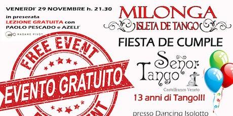 Milonga Gratuita - Buon Compleanno Señor Tango! biglietti