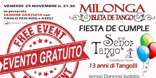 Milonga Gratuita - Buon Compleanno Señor Tango!
