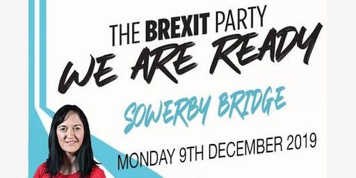 Sarah Wood Brexit Party Meeting Sowerby Bridge