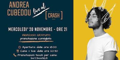 Andrea Cubeddu live al Crash Roma