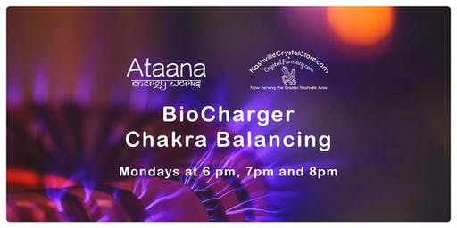 BioCharger Chakra Balancing (30-minute sessions begin on the hour)