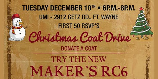 Maker's Mark Christmas Tasting and Coat Drive