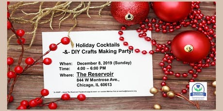 Holiday Cocktails and DIY Crafts Making Party! tickets