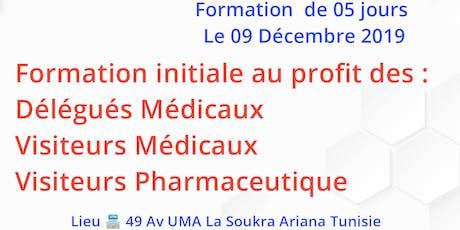 Formation initiale des Délégués/Visiteurs Médicaux et Pharmaceutique billets