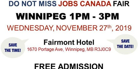 Winnipeg Job Fair – November 27th, 2019 tickets