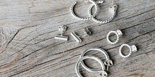 Silver earring workshop